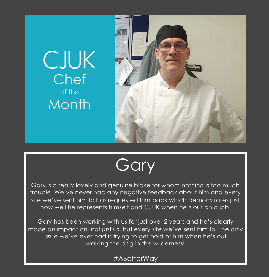 Gary CJUK Chef of the Month