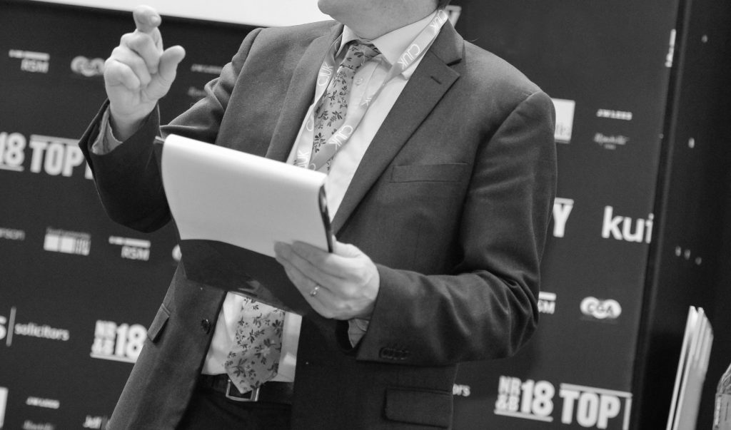 Black and White conference manager