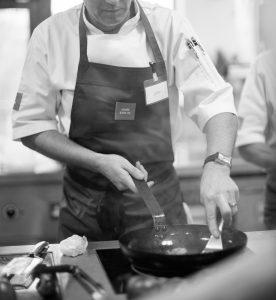 Chef black and white image cjuk