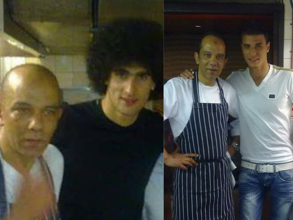 CJUK Chef Khalid with Marouane Fellaini and Marouane Chamakh